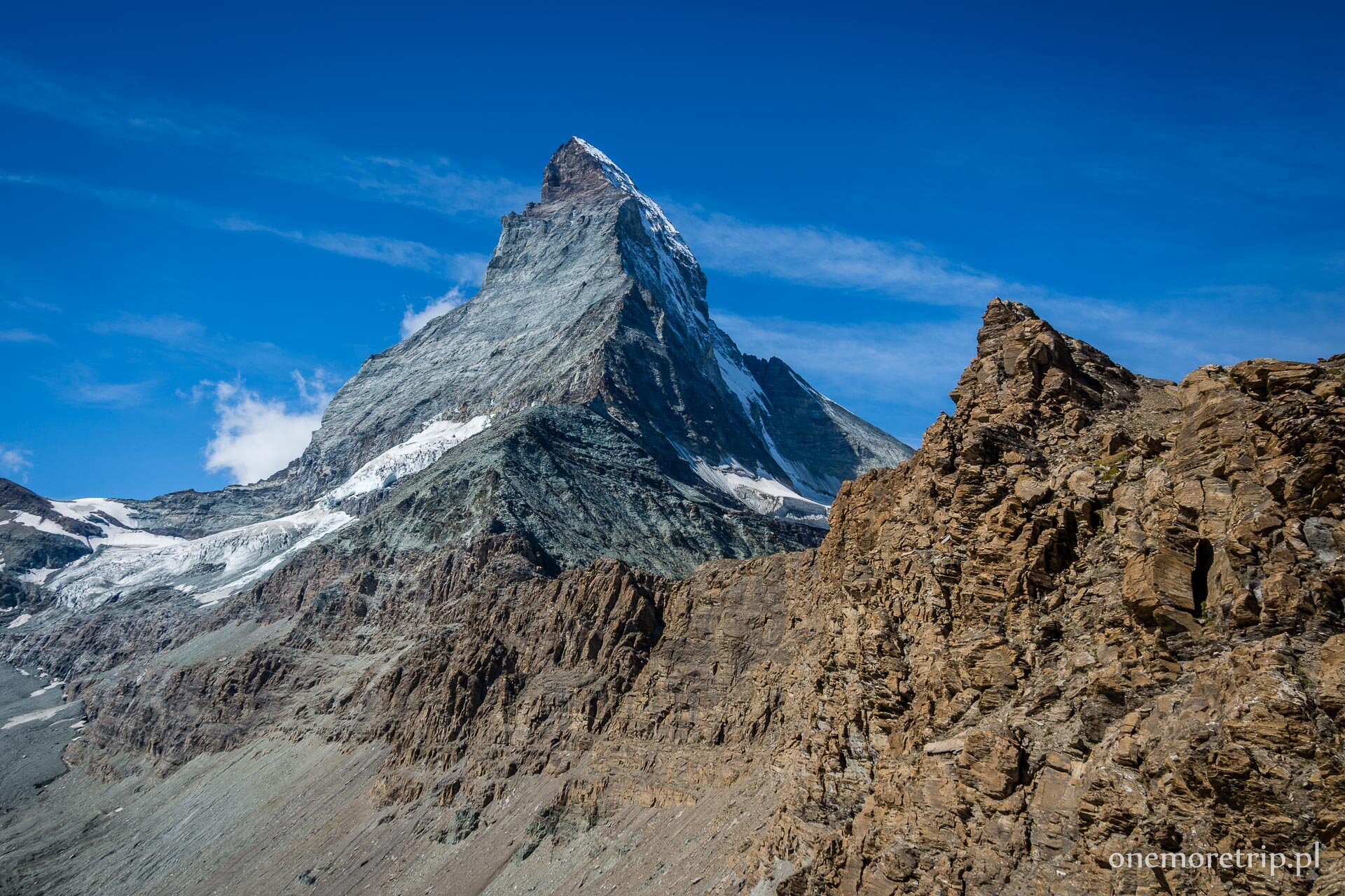 Widok na Matterhorn z Hornligrat