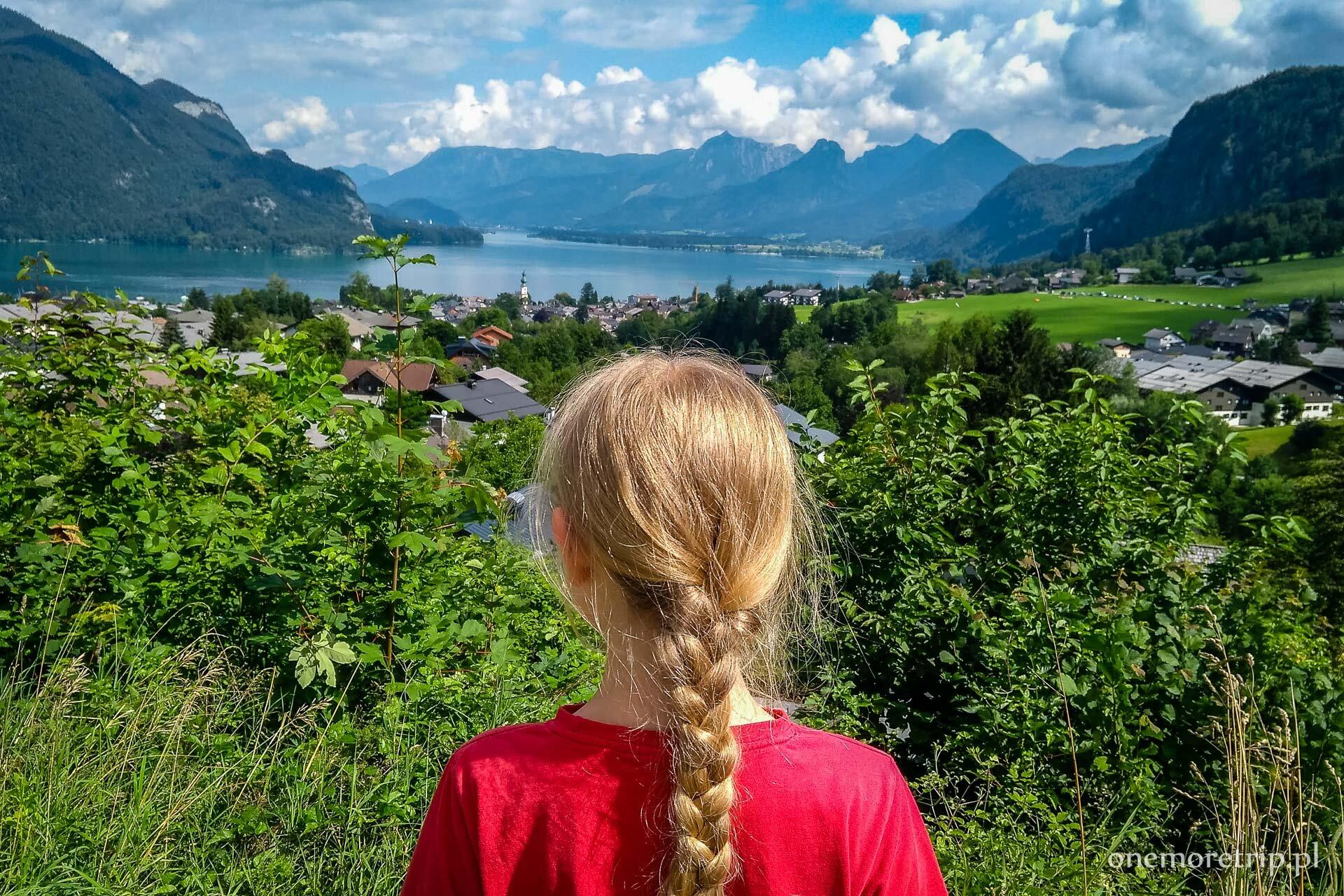 Widok na Wolfgangsee i St Gilgen
