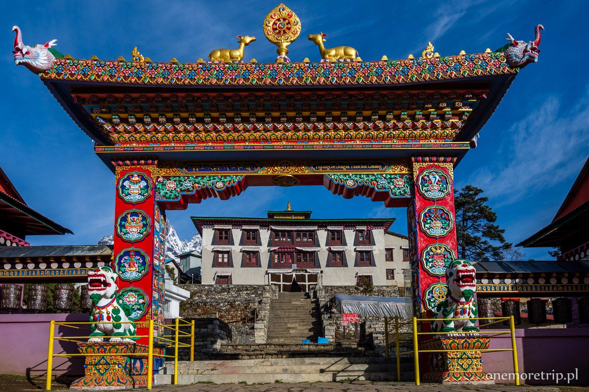 Klasztor w Tengboche w Himalajach
